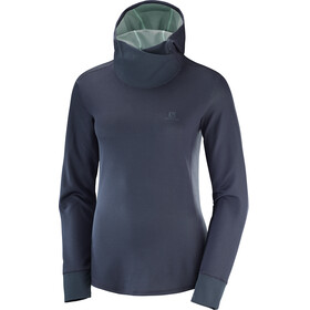 Salomon Agile LS Hoodie Women Graphite Heather/Yucca